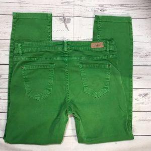 Zara Trafaluc Green Skinny Crop Jeans Size 8